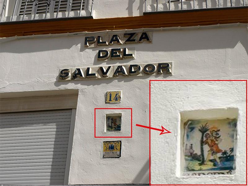 Sevilla y sus curiosidades azulejos curiosos en sevilla for Azulejos express san cristobal